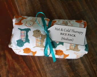 Hot & Cold Therapy Rice Pack - Snuggle Puppies (Flannel)
