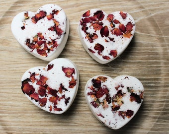 Bath Bomb Set, Rose and Ylang Ylang, Natural Bath Bomb, Bath Fizz, Bath Fizzie, Bath Fizzies, Bath Soak, New Mom Gift, Romantic Wedding Gift
