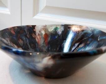 Fused glass handmade bowl