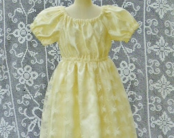 "Lace dress,  Special ocassion dress, size 6-12 months, Cream girls dress,  ""READY TO SHIP"""