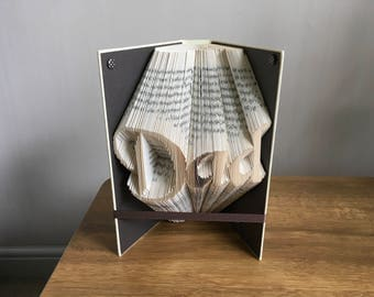 Dad folded book art