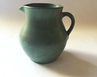 Matte Green Pitcher, Waco Pottery Kentucky, Art Pottery, Arts and Crafts