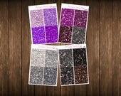 Teensy Weensy Set of 4 Faux MATTE Glitter Headers Set 3 Themed Planner Stickers - Erin Condren Planner Stickers - Happy Planner