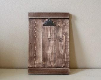 Rustic Wood Clipboard Photo Frame