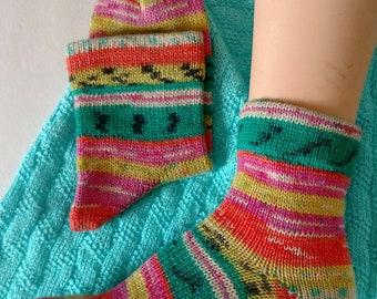 Wool Socks,  Hand Made Wool Socks, Hand Cranked Wool Socks, Boot Socks, Women's Wool Socks, Teen Wool Socks, Boy's  Wool  Socks,Men's Socks