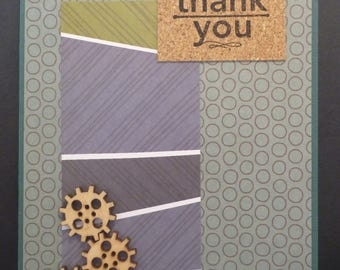 Cogs Masculine Thankyou Card 1540