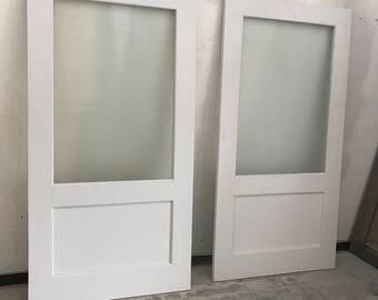 """Glass Door.........Made to fit your style!    """"Interior / Exterior Barn Doors""""  TBS Barn Doors"""