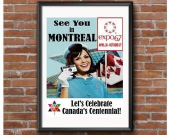 Expo 67 Poster – Montreal Worlds Fair 1967 – Canada's Centennial Celebration