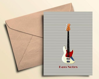 Bass Notes Note Cards - Box of 10 With Envelopes