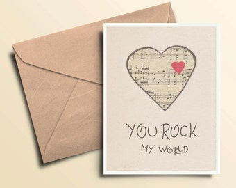 You Rock My World Valentine Card