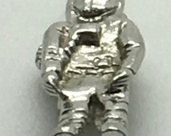 Vintage Sterling Silver Astronaut Jetpack Outer Space Moon Walk NASA Space Suit 3 D Solid 925 AM Signed