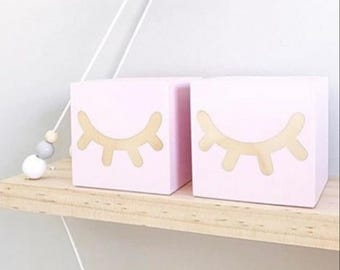 SHELFIE / Eyelash Shelf blocks / eyelash blocks / decor blocks / sleepy eye blocks