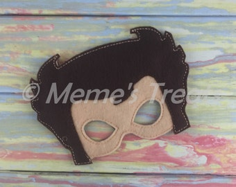 Deluxe Felt Mask -- Kids Mask – Inspired by Wolverine -- Costume – Dress-Up -- Halloween -- Pretend Play -- Party Favor – MMTM0025