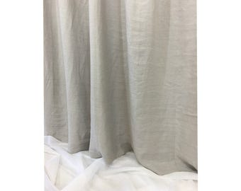 Stone Grey Linen Curtains, Custom Curtains, Natural Linen Curtains