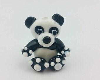 Panda Bead - Lampwork Panda - Chinese Panda - Panda Bear - Glass Panda - Chinese Beads - Animal Beads - Lampwork Beads - Panda - UK Made -