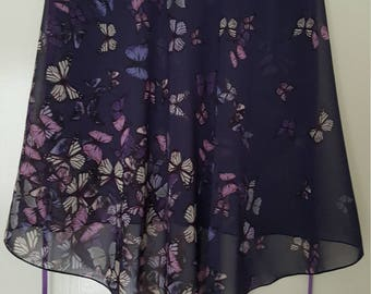 Ballet wrap skirt: Butterflies Escape II.