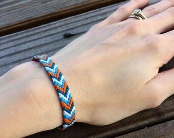 Frozen inspired chevron braided friendship bracelet, ice princess inspired, olaf inspired, elsa inspired, macrame bracelet