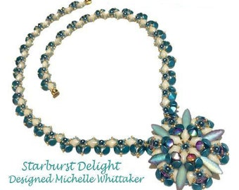 Star Burst Diamond Delight Pendant & Necklace Needlework Tutorial PDF