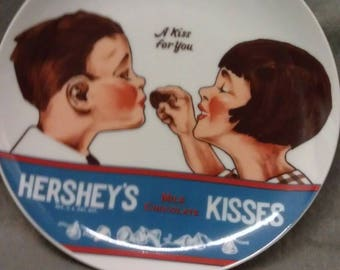 Hershey's Kisses 1979 Plate A Kiss For You Plate