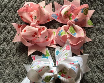Small Boutique Hair Bows