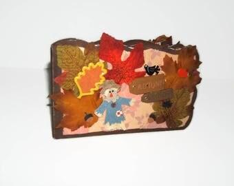 Fall Chipboard Scrapbook Album -Autumn Chipboard Scrapbook Album - Unique Scrapbook - Premade Fall Chipboard Photo Album - Fall Photo Album