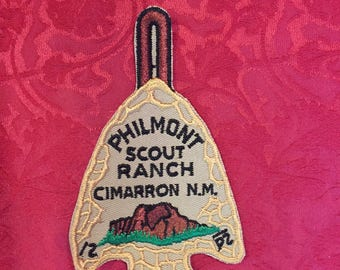 FREE SHIPPING-Philmont Scout Ranch- Cimarron N.M.- New-Old Stock- Badge