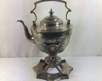 Vintage Teapot On A Stand Beautiful Ornate Teapot Tea Kettle On STand Coffee Pot Coffee Kettle On Stand