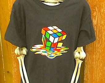 90s Vintage Rubix Cube Tee Size Small