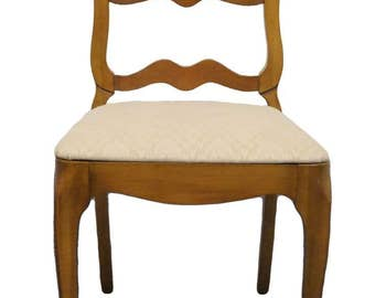 1950's Solid Cherry French Provincial Ladderback Dining Chair