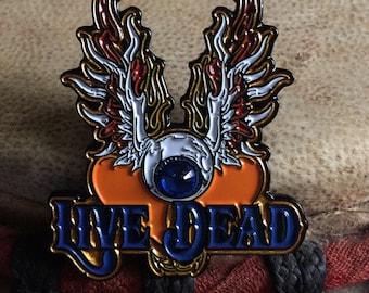 Live Dead hat pin