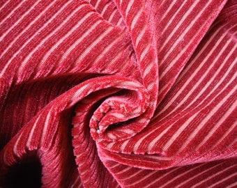 Velvet fabric, velvet red fabric upholstery upholstery fabric 60 s 70 s not used