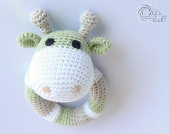 Crochet giraffe rattle