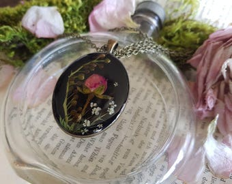 Real flowers Botanical Flower chain necklace nostalgia bouquet of wild flowers forever unique