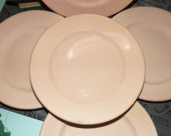 Early mid-century (c.1940s) Grindley Peach Petal salad plate.  Smooth edge.  Made in England.