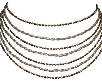 1970s Chanel Multi-Strand Bib Necklace