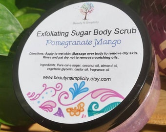 Pomegranate Mango Sugar Body Scrub