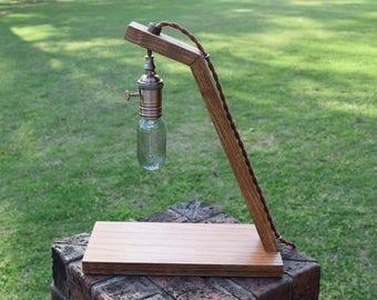 Handmade Wood Edison Lamp