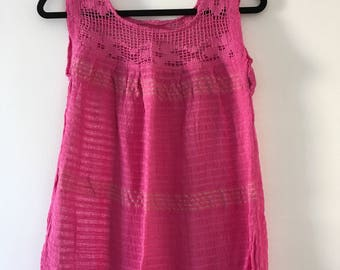 Traditional Mexican Pink Blouse of Loom