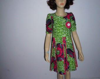 Beautiful African Print dress for girls.