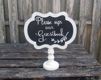 Wedding Decor, Wedding Sign, Table Decor, Vintage Wedding, Rustic Wedding, Guestbook Sign, Chalkboard Sign, Calligraphy
