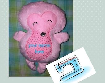 Personalised hedgehog toy