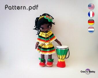Pattern - Dona & her Djembe