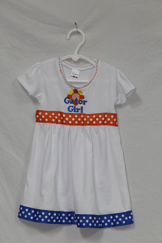 Florida Gator Girl dress toddler gator girl dress t shirt dress