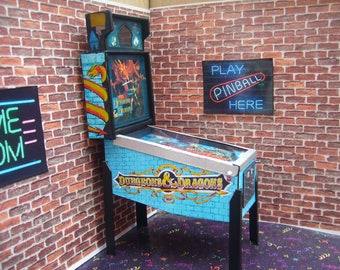DUNGEONS & DRAGONS ~ Miniature Pinball Table Model 1/12 Scale