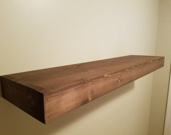 Handmade Floating Wood Shelf