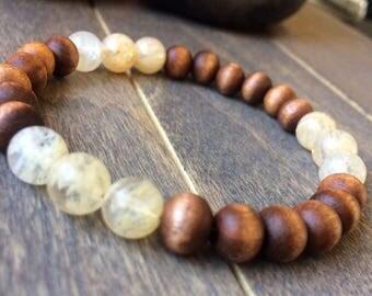 Solar Plexus Chakra Bracelet, Chakra Healing, Grounding Bracelet, Meditation Bracelet, Crystal Healing, Reiki, Wrist Mala, Beaded Bracelet