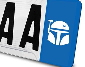 Sticker Boba fett Star Wars for license plates