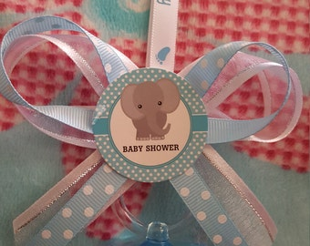 It's a Boy. Elephant baby Shower pacifier necklace