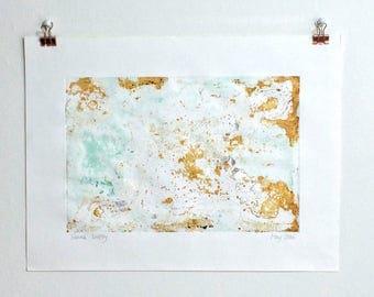 EBBING - Abstract, Print, Art print, Copper, Patina, Rust, Brown, Blue, Green