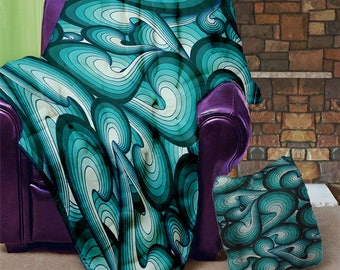 "Curly Waves 50"" x 60"" Velveteen Blanket"